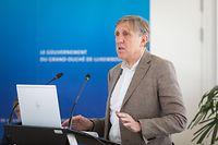 Politik, Pressekonferenz Minister Francois Bausch zu Militär Satelit LUXEOSys, foto: Lex Kleren/Luxemburger Wort