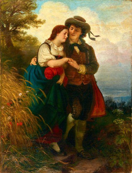 """Epp Liebespaar (1868) in der Villa Vauban Ausstellung """"Confrontations""""."""