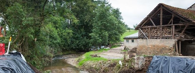 Kleine Bäche verwandelten sich am 22. Juli in reißende Flüsse.