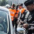 Controle routier de police orienté,visant plus spécifiquement la distraction au volant,Polizeikontrolle,Handy-Gurtkontrolle,Polizei,Verkehrskontrolle.Foto:Gerry Huberty