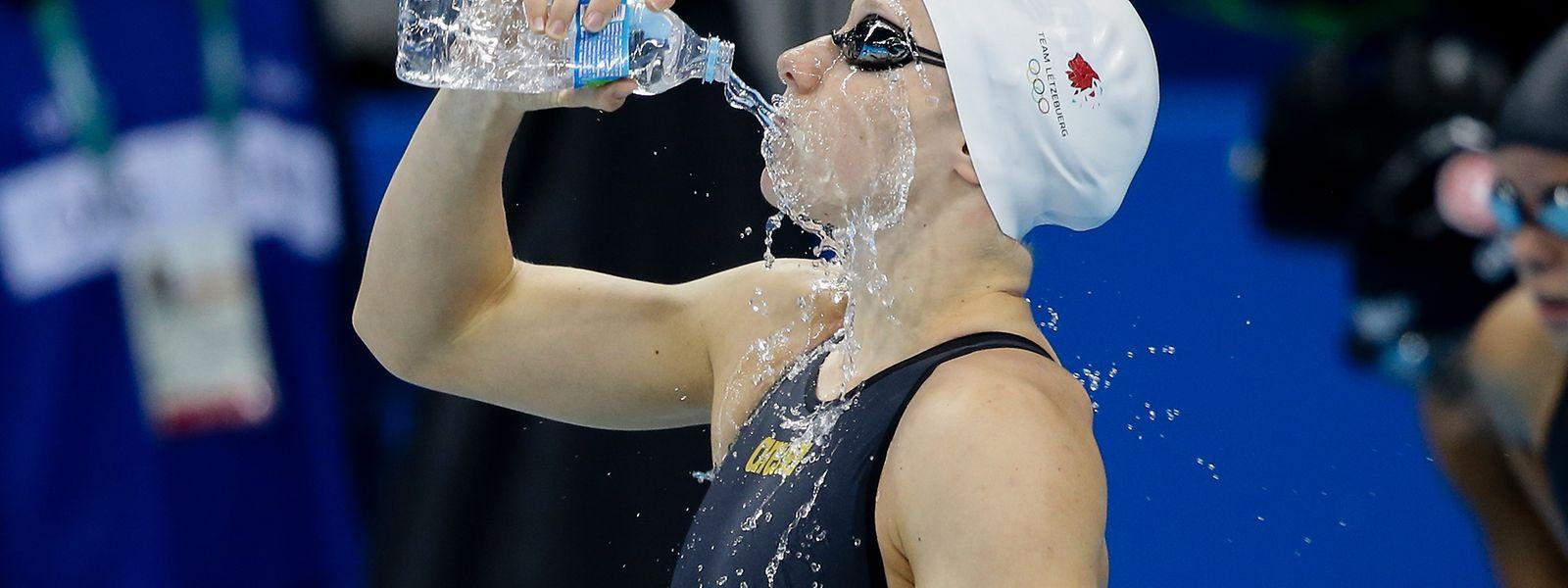 Julie Meynen verbesserte zwei Landesrekorde bei ihrem Olympiadebüt.
