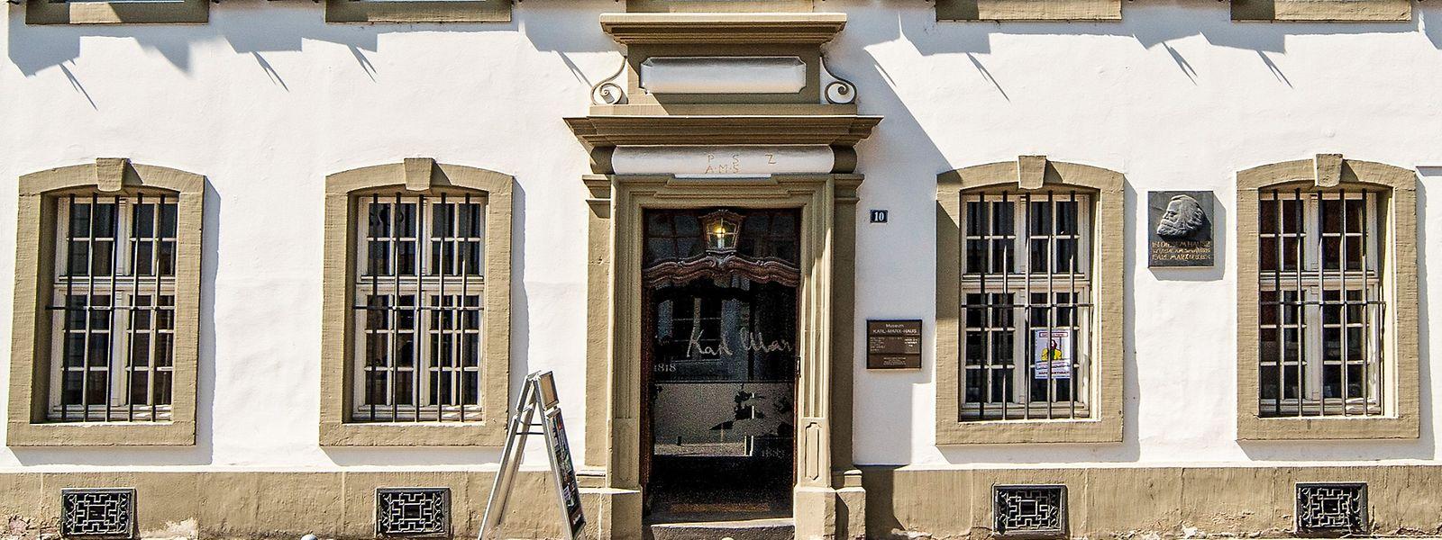 In diesem Haus wurde Karl Marx geboren. Es befindet sich in der Brückenstraße in Trier.