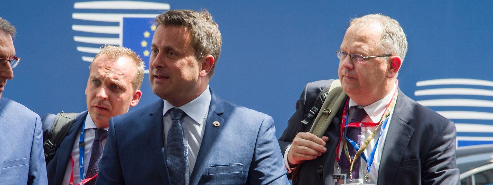 Xavier Bettel lors de son arrivée à Bruxelles pour le sommet européen en juin dernier.