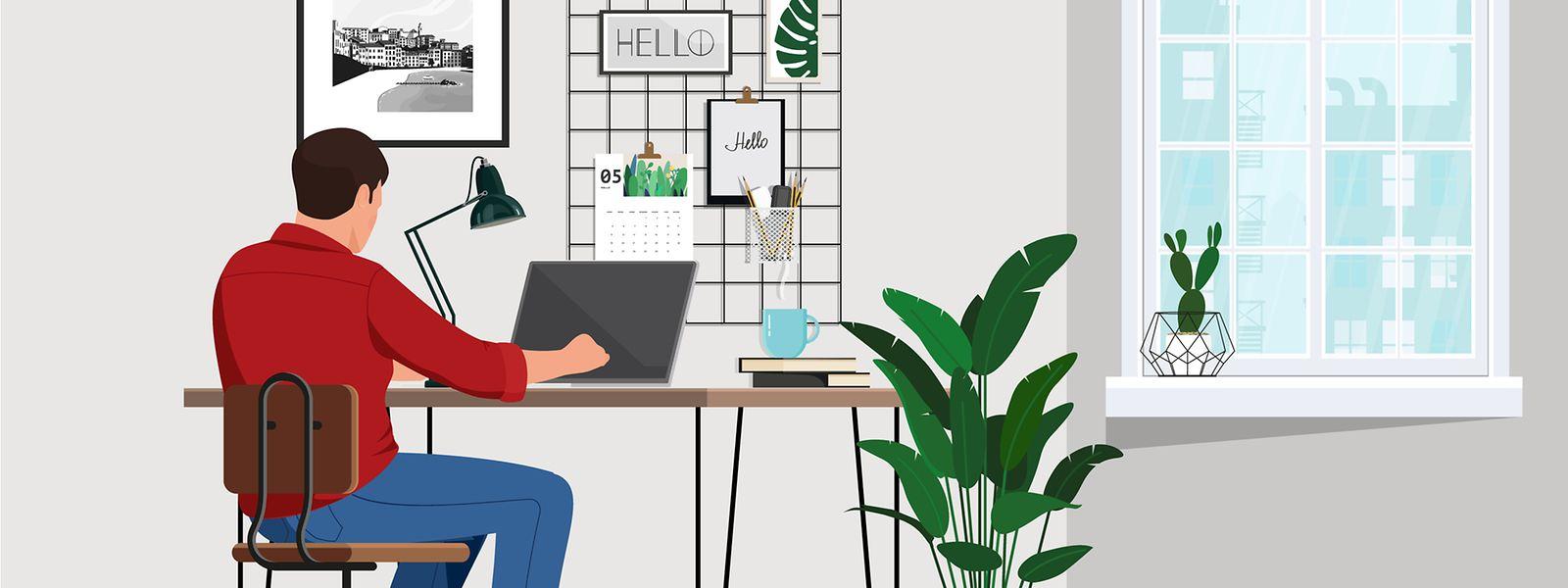 Es klingt unheimlich verlockend: mit dem PC im Bett lümmeln ... doch das sorgt nicht gerade für Effizienz. Darum heißt es auch: ab an den Schreibtisch!