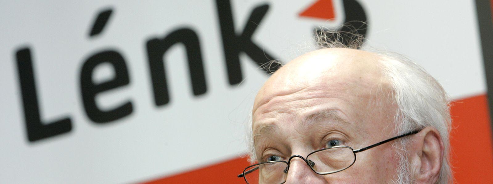 André Hoffmann und Déi Lénk wollen bei den Europawahlen hoch hinaus.