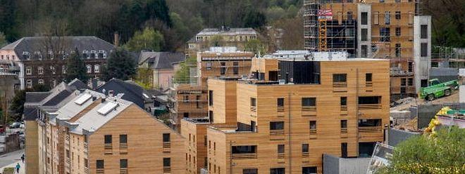 In Zentrum von Differdingen baut der Fonds du logement derzeit 75 Wohneinheiten.