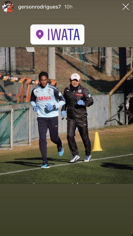 Die erste Trainingseinheit in Japan.