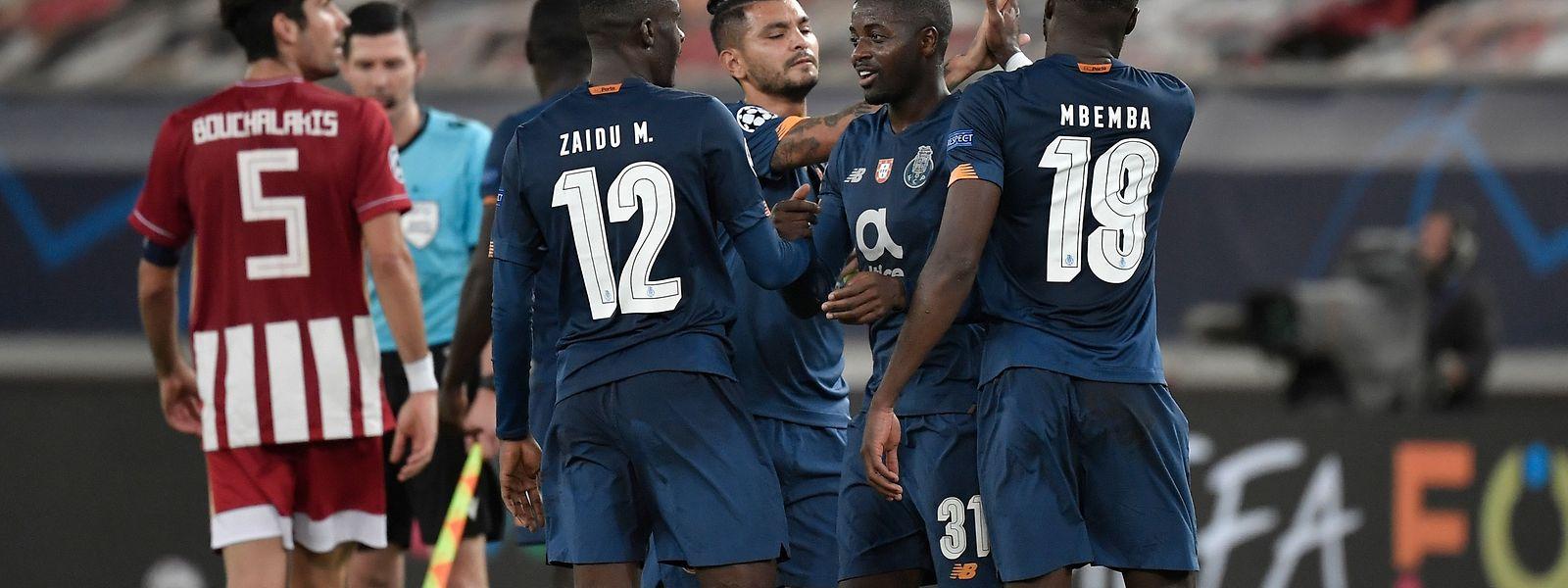 Dragões venceram o Olympiakos por 2-0 na fase de grupos da Champions, a 9 de dezembro.