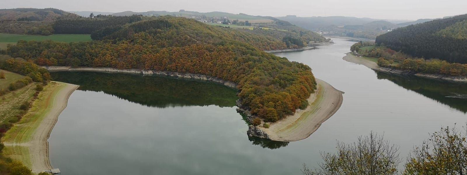 Trotz des niedrigen Pegelstandes am Stausee ist die Trinkwasserversorgung bisher gesichert.