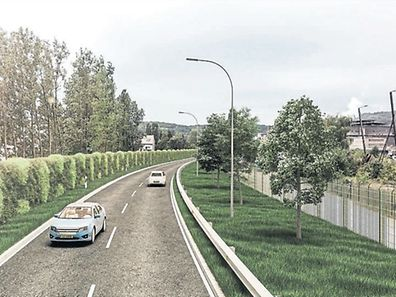 An artists' impression of the future bypass in Differdange