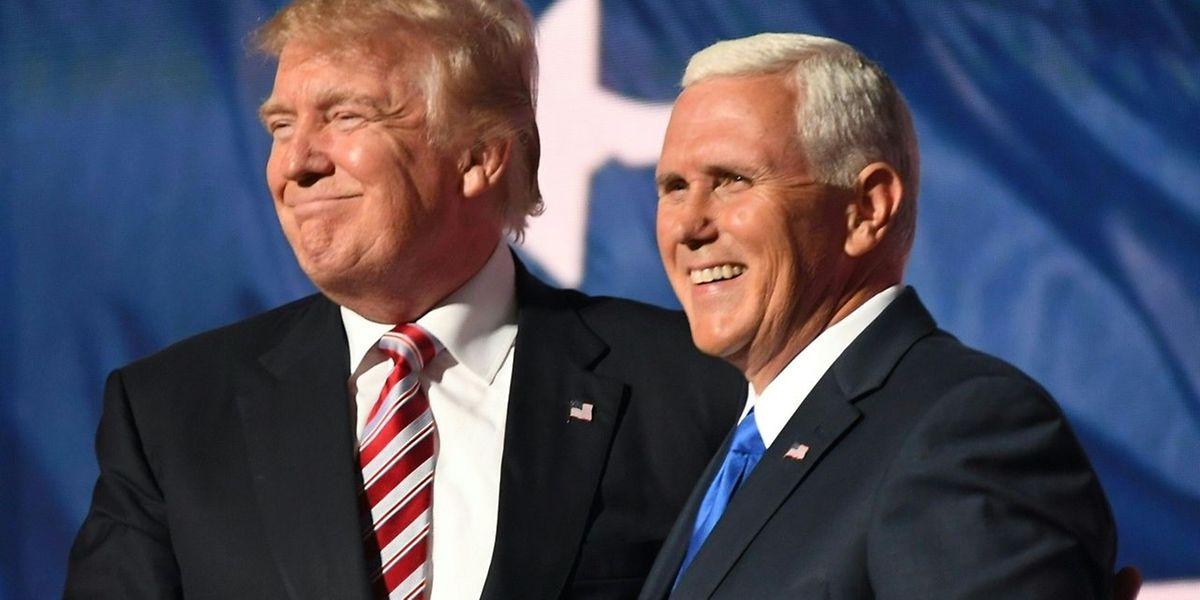 Donald Trump et son colistier, Mike Pence