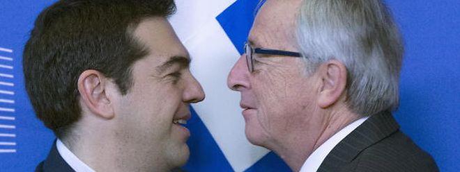 Jean-Claude Juncker avec Alexis Tsipras