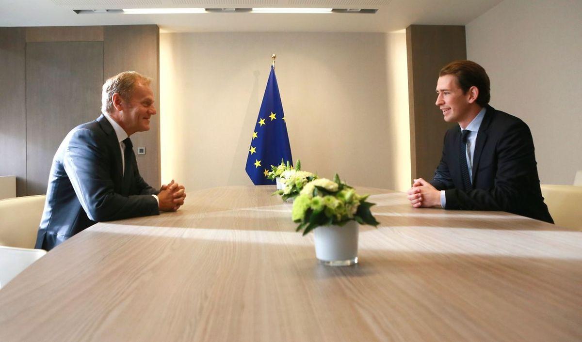 Auch ein Treffen mit EU-Ratspräsident Tusk stand auf dem Programm.
