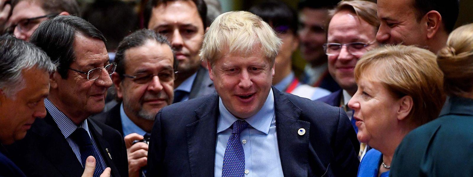 Boris Johnson im Kreis der EU-Staats- und Regierungschefs.