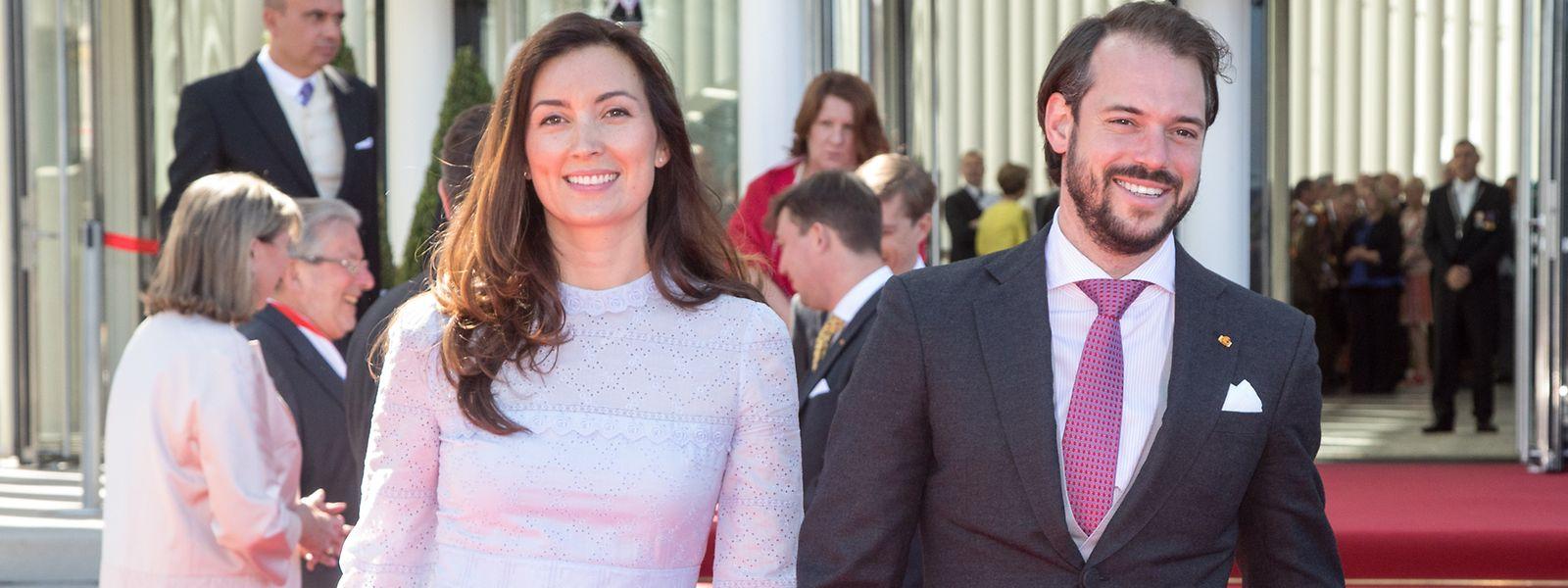 Prinz Félix und Ehefrau Claire während der Feierlichkeiten zum Nationalfeiertag 2018.