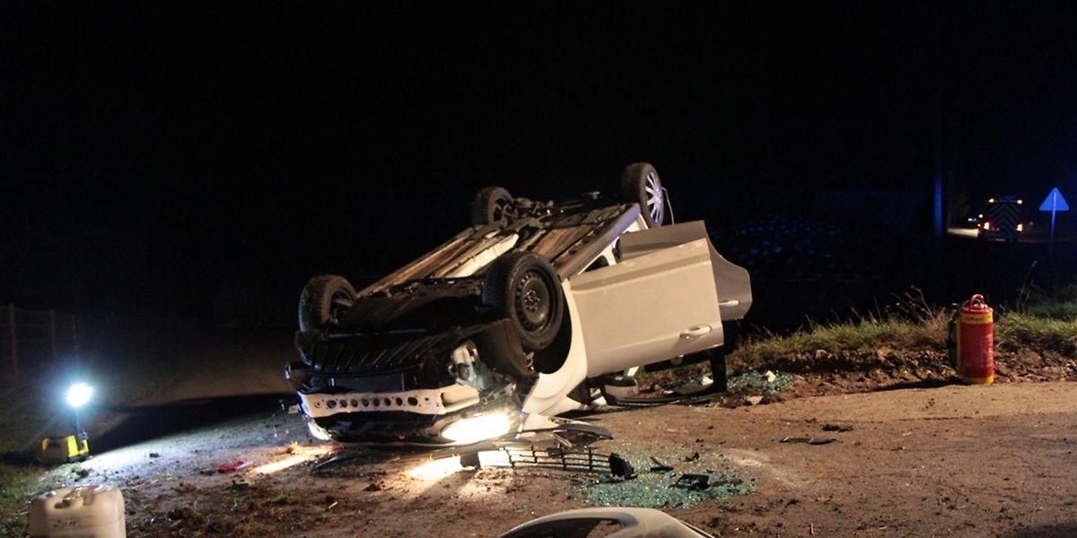 Der Fahrer hatte Glück, er konnte sich selbst aus dem Fahrzeug befreien.