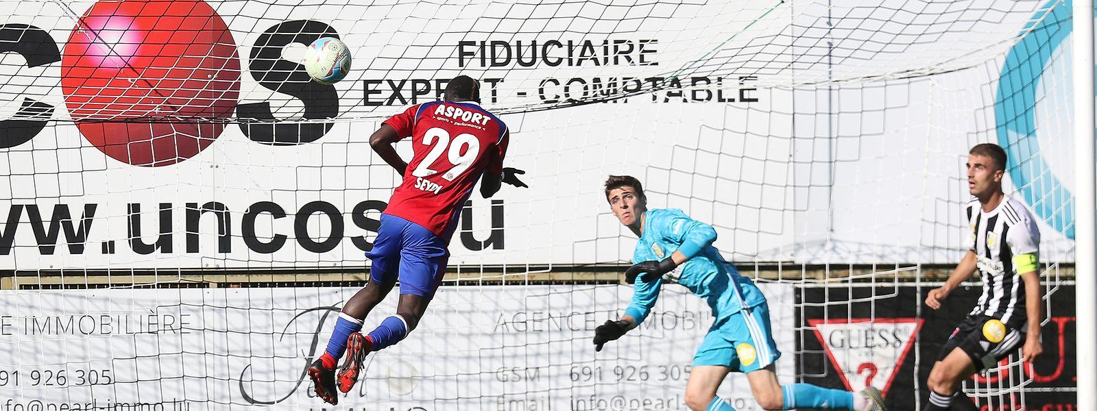 Moussa Seydi a profité du derby eschois pour inscrire son cinquième but de la saison