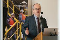 Wi , ArcelorMittal , Belval , Neujahrsempfang , Roland Bastian , Foto:Guy Jallay/Luxemburger Wort
