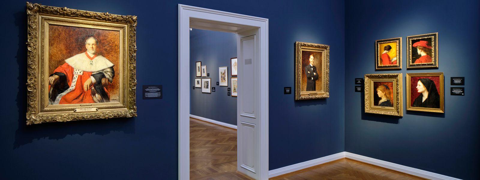 """Die eindringlichen Porträts des im Elsass geborenen Malers Marie Augustin Zwiller – besonders das zur Sammlung gehörende """"Tête de jeune fille, vue de profil"""" (ganz rechts) – ziehen die Blicke an."""