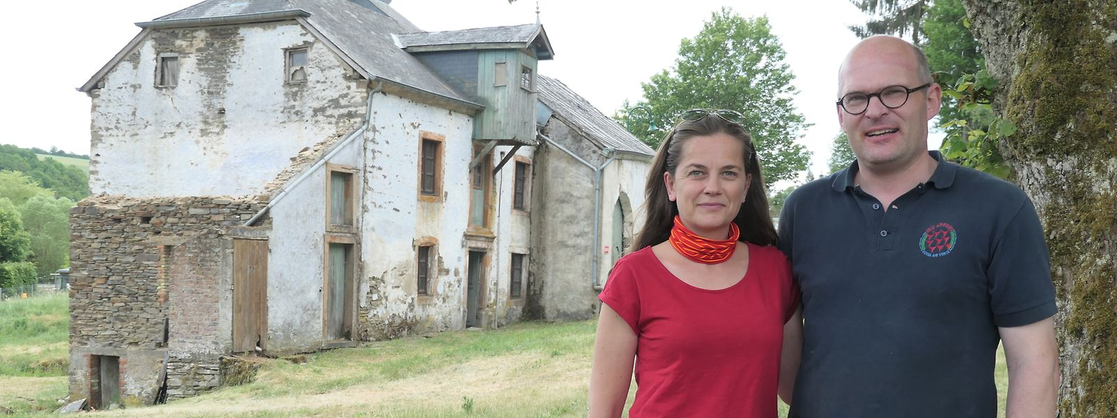 André Feltz und Agnès Heldenstein wollen die Mitte des 15. Jahrhunderts erbaute Bannmillen in Syr wieder zu neuem Leben erwecken.