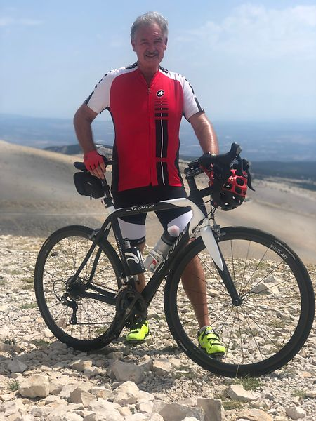 Fast geschafft. Jean Asselborn legt eine kleine Pause ein, bevor er die letzten Meter zum Ventoux in Angriff nimmt.