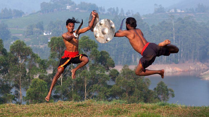 The ancient Indian martial art of Kalaripayattu
