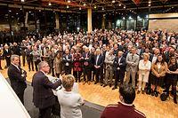 IPO , Niederanven , am Sand , Neujahrsempfang CSV , Pot Nouvel An , Ansprache Frank Engel Foto: Guy Jallay/Luxemburger Wort