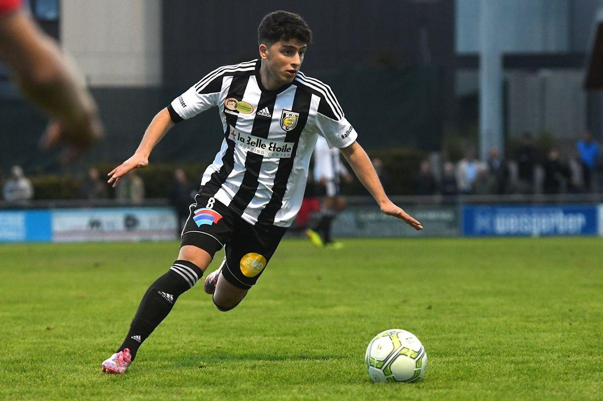 Luca Duriatti, une des satisfactions de la Jeunesse qui s'est imposée 4-0 contre Strassen.