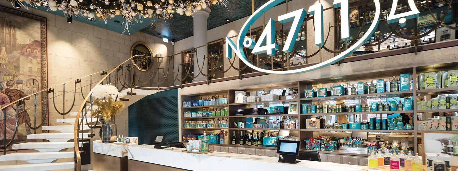 """Das Stammhaus von 4711 empfängt Besucher mit einer Mischung aus Klassik und Moderne - und einem Duftnebel von """"Echt Kölnisch Wasser""""."""
