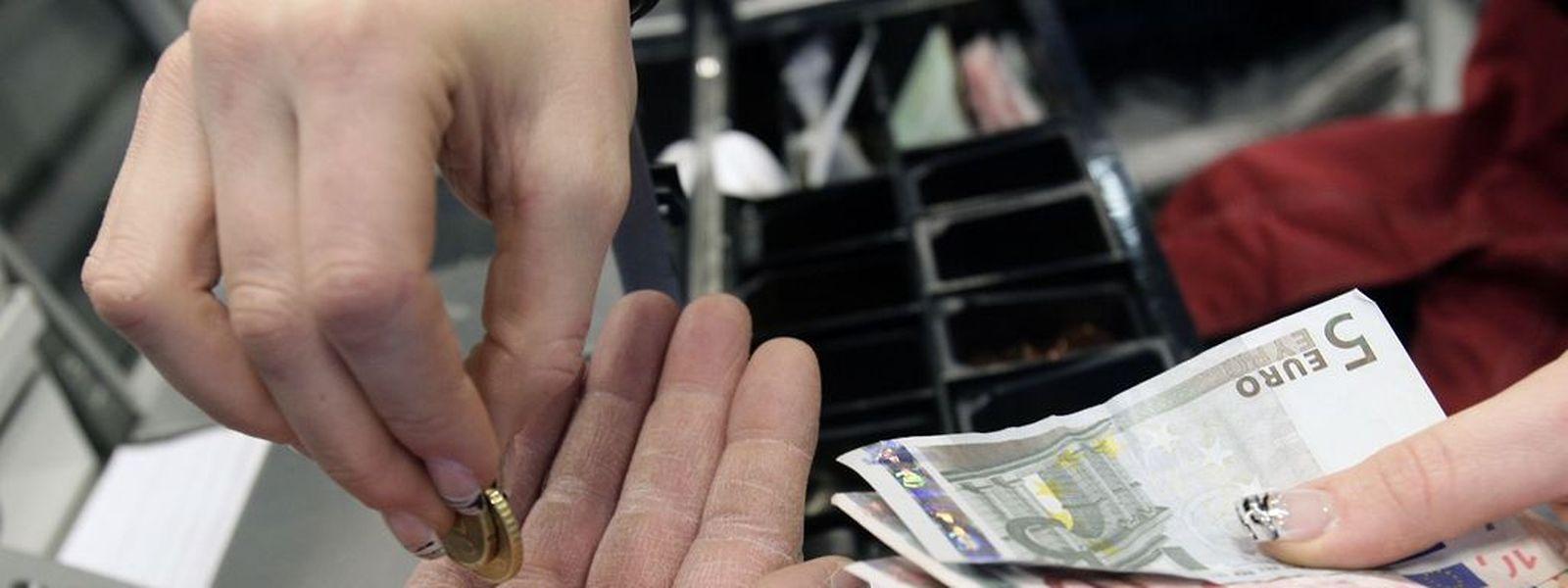 Die jährliche Inflationsrate betrug im Januar minus 0,6 Prozent, das war im Monatsvergleich ein Rückgang um 0,4 Punkte.  (Foto: Marc Wilwert)