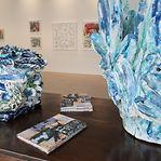 Bela Silva em visita guiada à sua exposição a 5 de fevereiro