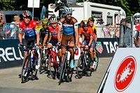 Bob Jungels (Deceuninck) und Ben Gastauer (Ag2r) kurz vor dem Ziel - Giro d'Italia 2019 - 20. Etappe - Feltre/Croce d'Aune (Monte Avena) 194km - Foto: Serge Waldbillig