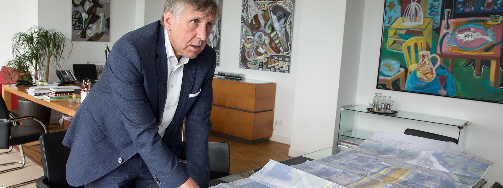 François Bausch, ministre de la Mobilité (Déi Gréng), envisage «de présenter, «voire de faire voter d'ici la fin de la législature» les lois de financement sur les extensions du tram.