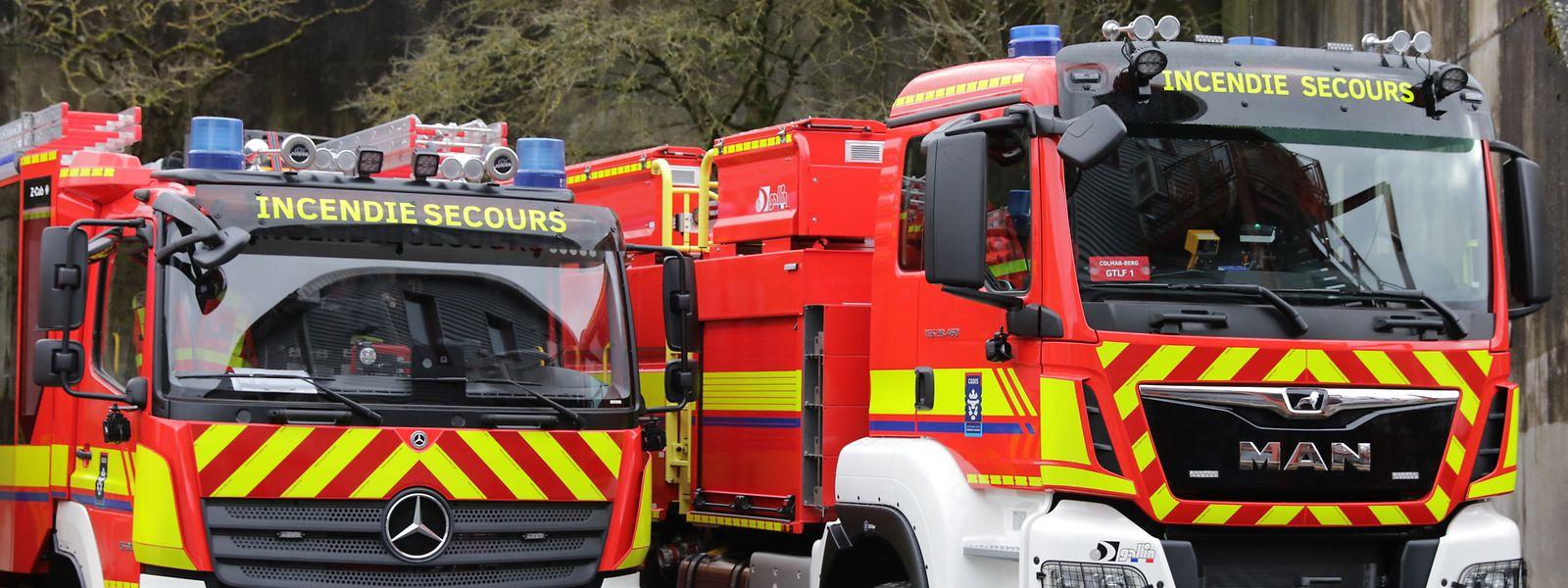 Löschtrupps aus Luxemburg halfen bei dem Großbrand jenseits der Grenze.