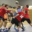 Eric Schroeder (HB Käerjeng - 24) / Handball, Challenge Cup 2017 - 2018 / 07.10.2017 / HB Käerjeng - Shakhtar Donezk / Käerjenger Dribbel / Foto: Yann Hellers