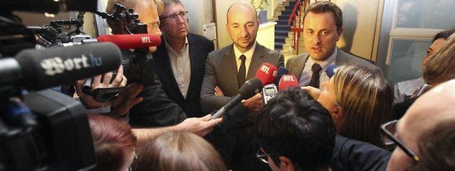 Drei Stunden lang dauerte das erste Sondierungsgespräch - doch der Weg zur Koalitionsbildung steht fest.