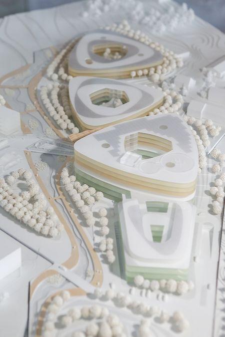 So hat sich das Architektenteam um Albert Wimmer das Südspidol ausgedacht.