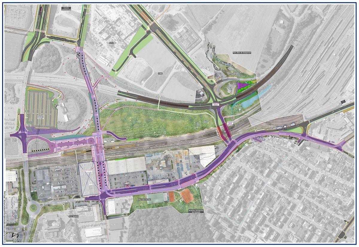 Le futur aménagement de la rue des Scillas destiné à accueillir le tram.