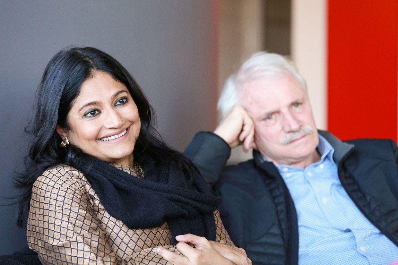 Runa Kahn et Yann Arthus-Bertrand.