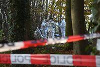 Die Polizei war am Montagvormittag mit einem Großaufgebot am Tatort im Einsatz.