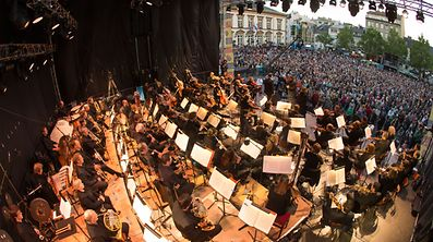 Luxembourg Philharmonic Orchestra playing at Fête de la Musique in Luxembourg City last year