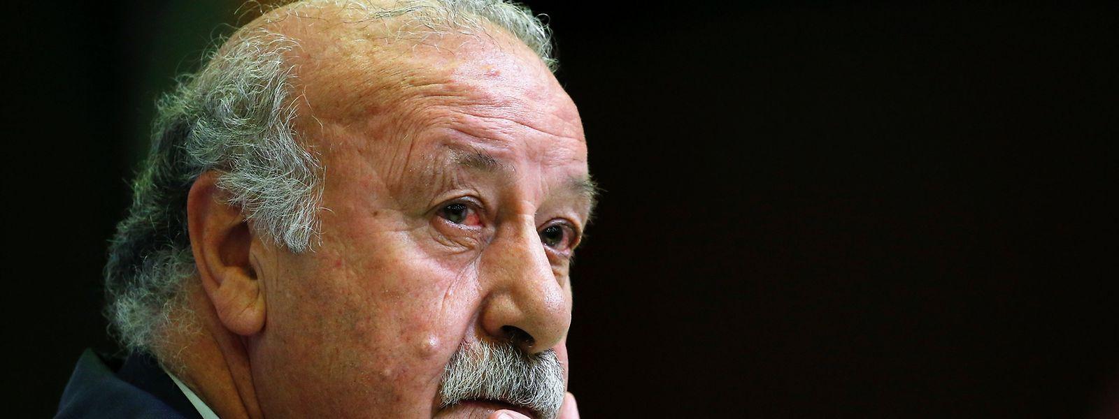 Trainer Vicente del Bosque enttäuschte mit Spanien bei der EM.