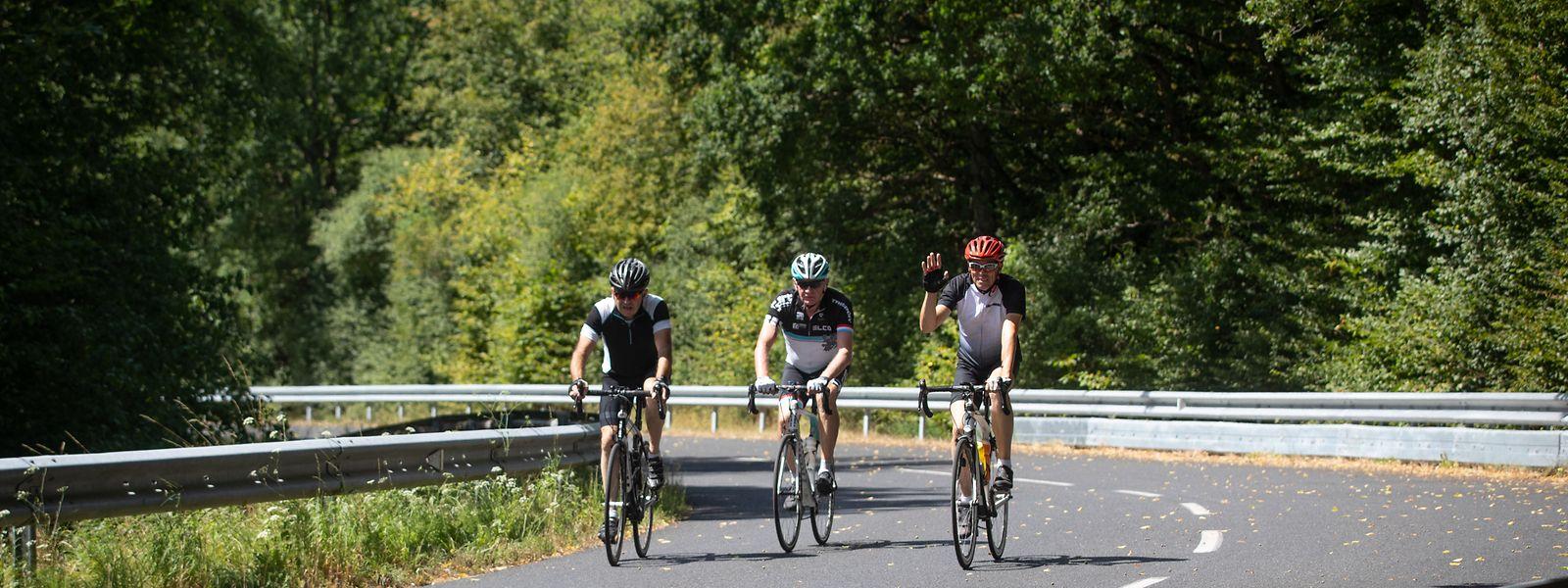 Auf sieben Straßenabschnitten konnten Radfahrer im August ihre Tour genießen und das ohne Autoverkehr – so wie hier auf der Strecke zwischen Alzingen und Syren.