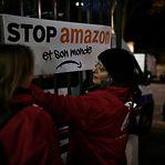 Protestos em França contra a Amazon