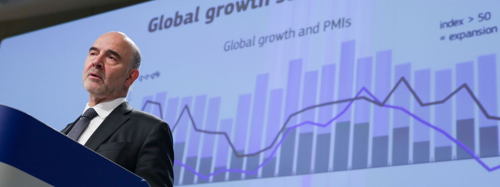 Le commissaire économique européen Pierre Moscovici, dont le mandat expire à la fin du mois, a présenté les prévisions d'automne.