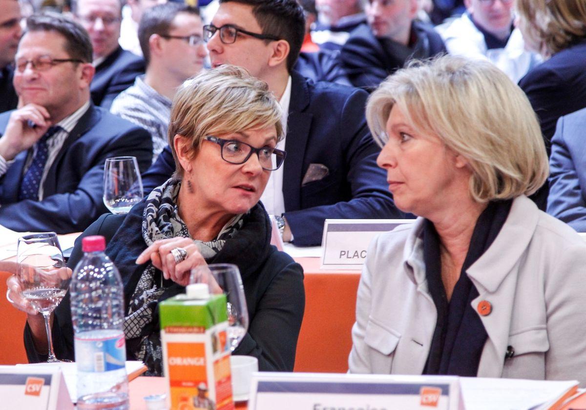 Sollen oder müssen: Die Präsidentin des Bezirks Norden, Martine Hansen (l.), verteidigte eine freiwillige Formulierung bei der neuen Frauenquote. Ihre Kollegin aus dem Osten des Landes, Françoise Hetto, sprach sich für einen klaren Aufruf in der Parteisatzung aus.