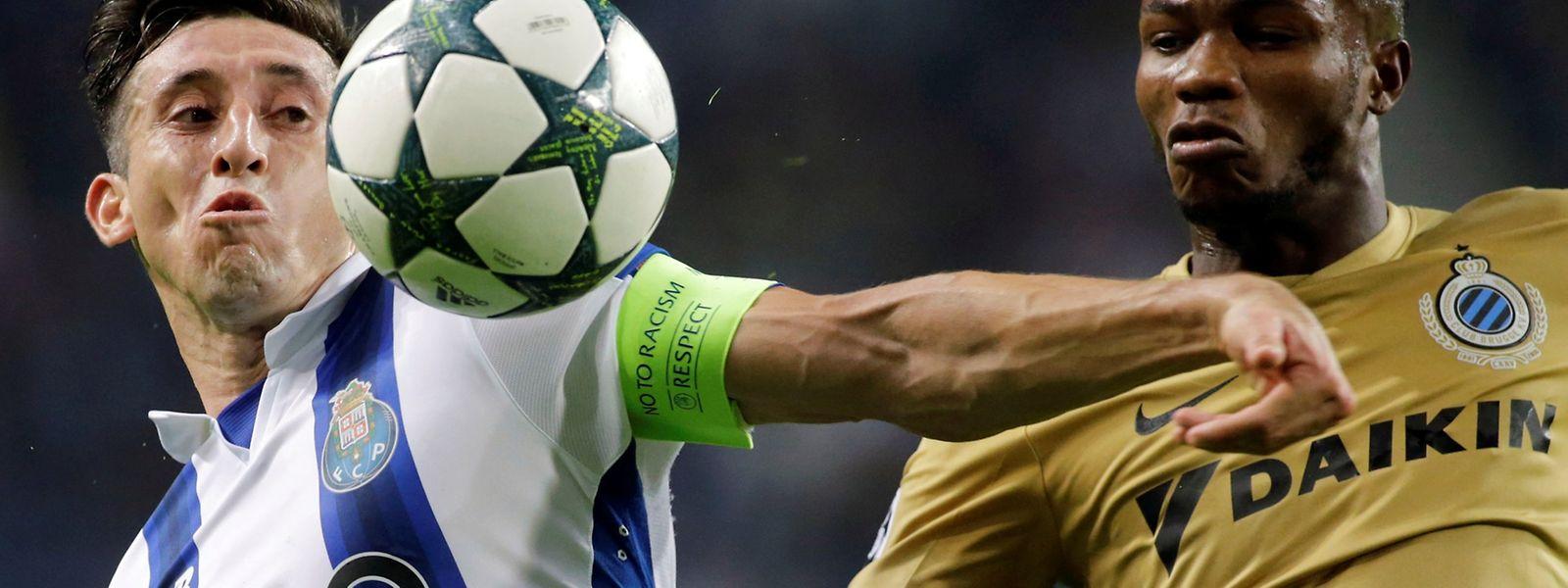 'Dragões' conseguiram três pontos importantes frente aos belgas do Brugge