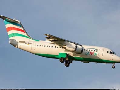 The aircraft which crashed was an Avro RJ (manufacturer: British Aerospace) of the Bolivian airline Lamia similar to the one pictured