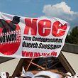 Protestaktioun geint de Contournement Sanem Streik, Streick, Suessem, Foto Tania Feller