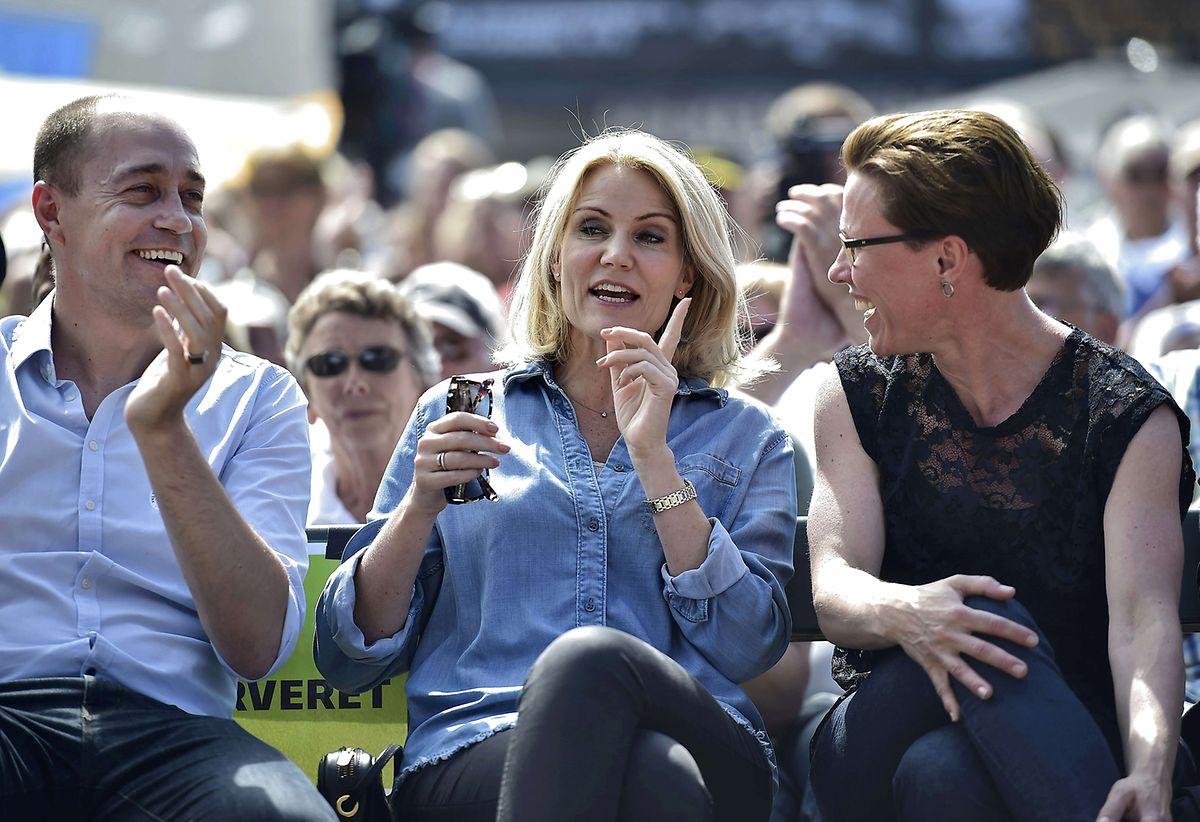 """Regierungschefin Helle Thorning-Schmidt nimmt am """"Folkemoedet"""" auf der Insel Bornholm teil. Das """"Folkemoedet"""" ist in Dänemarkt traditionell ein politisches Treffen mit Volksfestcharakter."""